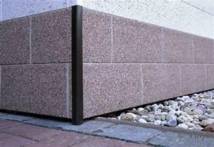 Fassade Mit Blech Verkleiden : sockelverkleidung mit sockelplatten in naturstein optik ~ Watch28wear.com Haus und Dekorationen