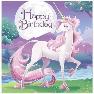 Magical Unicorn Happy Birthday Napkins - Unicorn Party