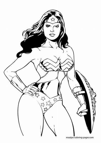 Woman Coloring Wonder Pages Superhero Adults Batman
