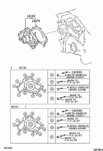 Toyota Camry Engine Water Pump  Main Engine Water Pump