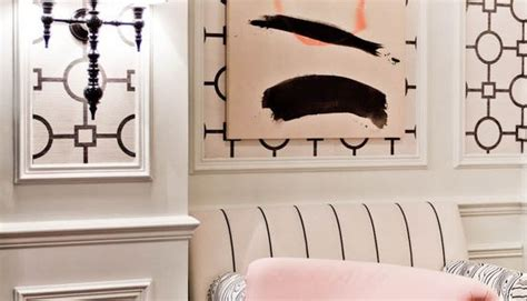 hollywood regency style living room  wall panels