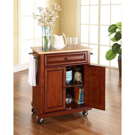 kitchen island cherry crosley cherry kitchen cart with wood top