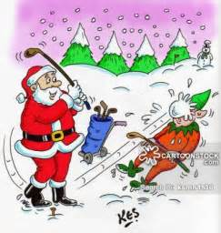 Christmas Golf Cartoons Funny