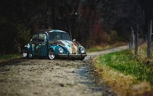 volkswagen beetle rat rod car vw HD wallpaper