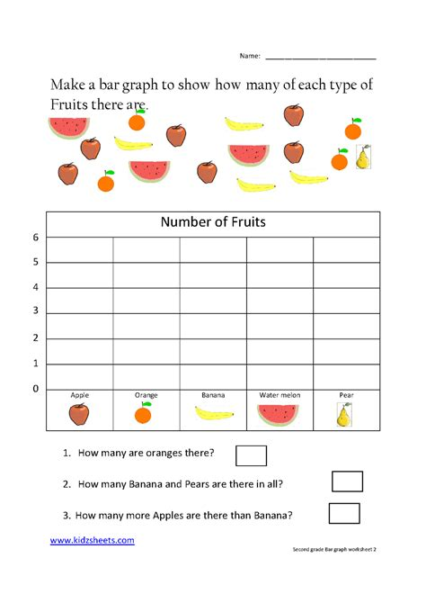 kidz worksheets second grade bar graph worksheet2