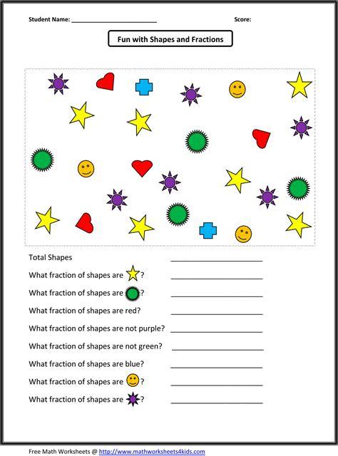 identifying fraction worksheets fractions worksheets