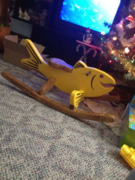 rocking horse nope rocking fish   fella homemade
