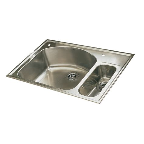 double stainless steel kitchen sink shop american standard culinaire double basin drop in