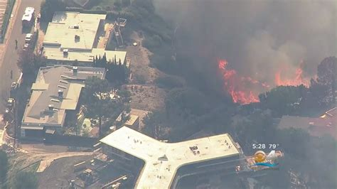 fire rages  bel air getty museum  los angeles youtube