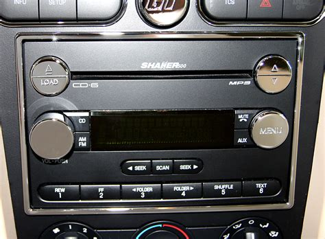 mustang radio surround chrome highlight action artistry