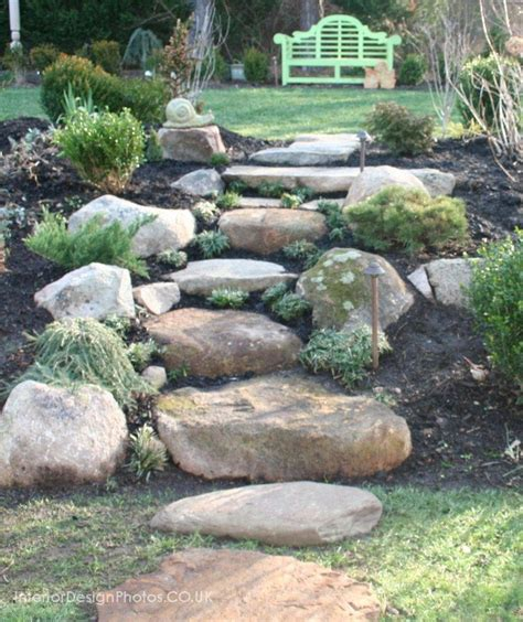 homemade stone stairs home sweet home garden paths