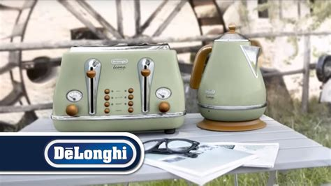 De'longhi Vintage Icona Kettle And Toaster Breakfast Set