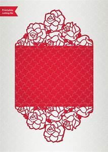 vector template laser cut wedding invitation svg With laser cut wedding invitations download