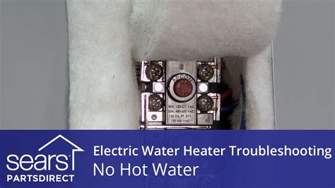No Hot Water Electric Water Heater Troubleshooting Youtube