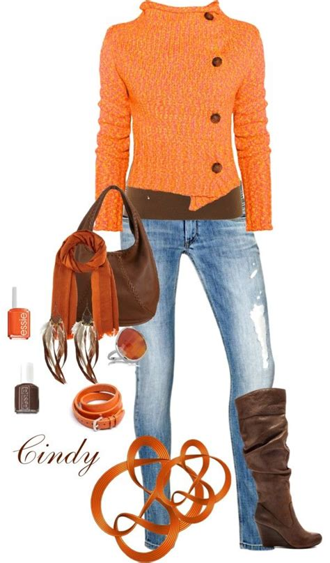 25+ best ideas about Orange outfits on Pinterest | Womenu0026#39;s orange outfits Orange dress outfits ...