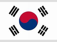 South Korea flag vector country flags