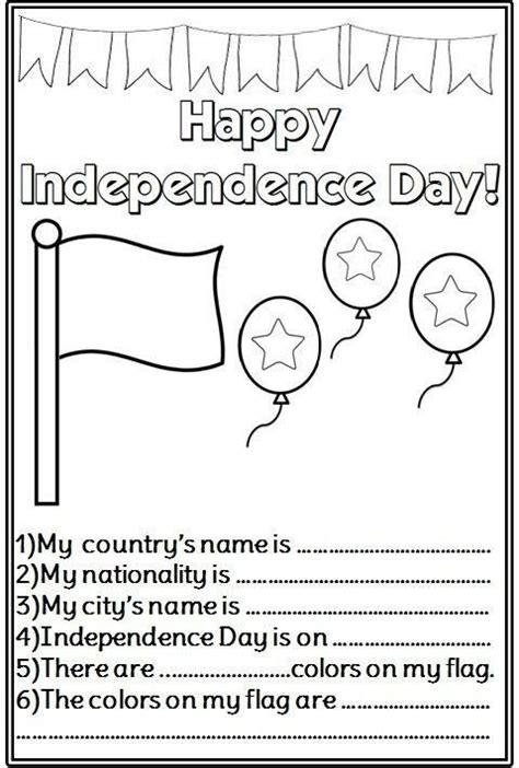 independence day worksheets  kindergarten worksheets