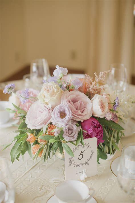 pastel rose  peony centerpiece elizabeth anne designs