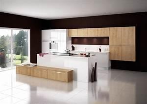 Cuisine modèle Cottage en stratifié décor bois EURO CUISINE