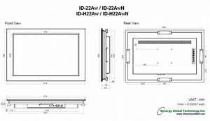 Dimension Tv 65 Pouces : industrial monitors panel mount lcd id 22aw ~ Melissatoandfro.com Idées de Décoration