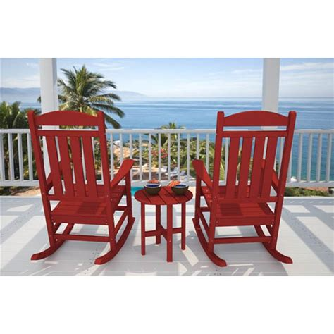 polywood 174 presidential rocking chair set with table