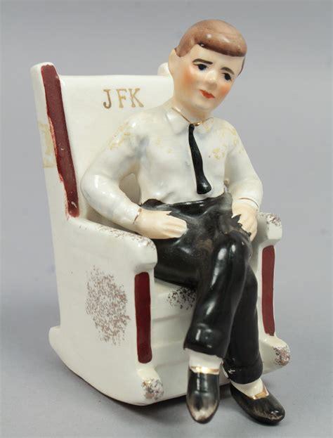 Jfk Rocking Chair Salt And Pepper Shakers by Vintage 1962 Japanese Jfk President Kennedy In Rocking