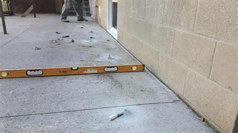 level backyard patio slab