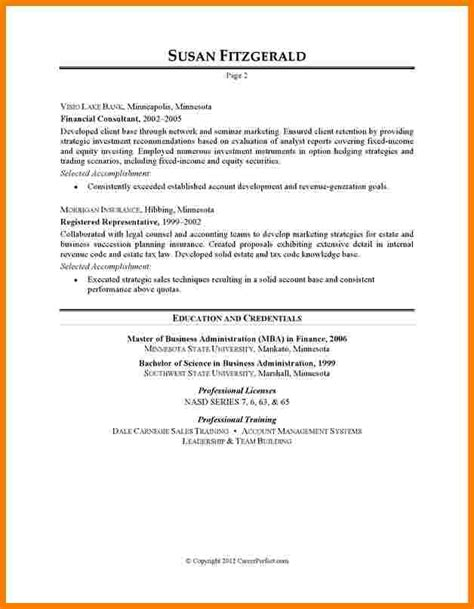 Sle Resume Templates by 9 Resume Template For Bank Professional Resume List