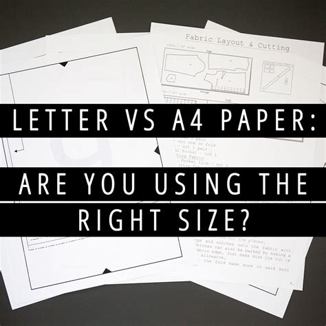 a4 vs letter letter vs a4 paper are you using the right size 20353