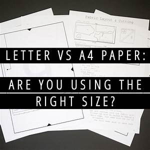 image gallery letter vs a4 paper With a4 letter paper