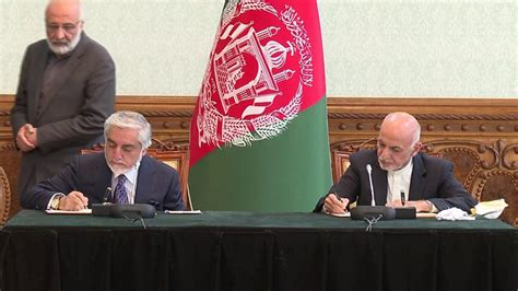 Afghanistan rival leaders sign power-sharing deal : TV360 ...