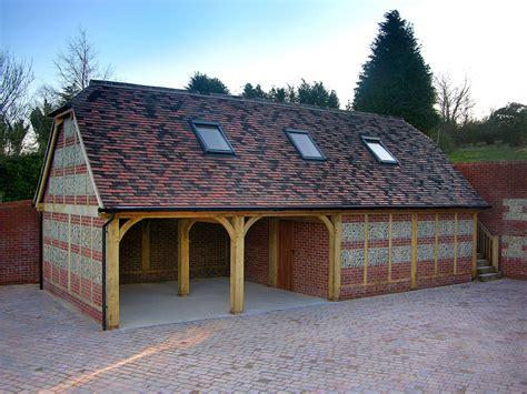 Flints Garage by Oak Buildings Accommodation Brookwood Oak Barns