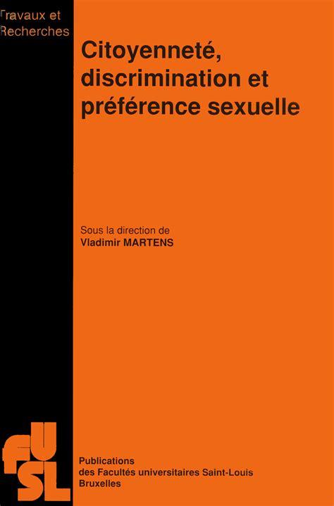 citoyennete discrimination  preference sexuelle