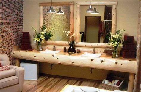 rustic home decorating ideas living room bathroom vanities rustic floating ls on tile