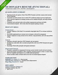 functional resume samples writing guide rg With functional resume