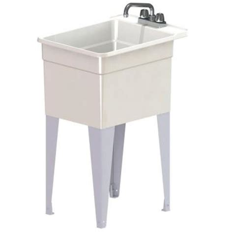 18 wide utility sink mustee utilatub combo 24 in x 18 in polypropylene floor