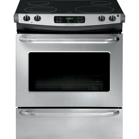 electric smooth range slide stainless oven steel self clean frigidaire stove stoves cleaning depot cu ft inch drop cf drawer