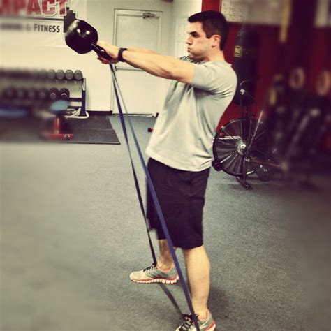 kettlebell crossfit swing band resistance bands swings variation workout weight using