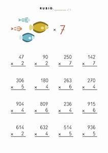 Fichas de multiplicaciones de una cifra para imprimir de Primaria Cuadernos Rubio