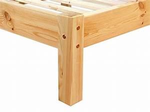 Erst Holz : erst holz lit en pin massif avec sommier lattes ~ A.2002-acura-tl-radio.info Haus und Dekorationen