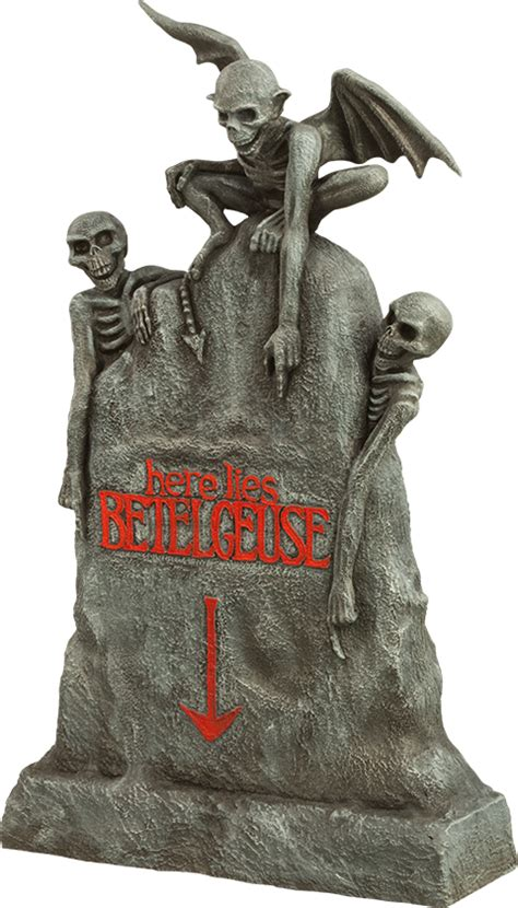 beetlejuice tombstone action figure accessory sideshow