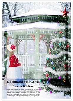 winter christmas background word document template