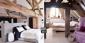 Chambres avec poutres apparentes en bois voici 20 exemples for Chambre avec poutres apparentes