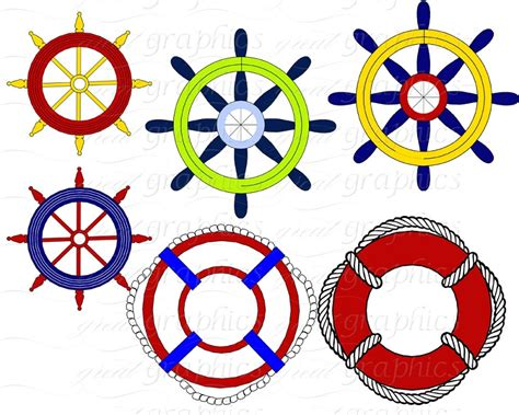 Ships Wheel Clipart &rd41
