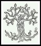 Coloring Pagan Colouring Adult Wiccan Moon Goddess sketch template