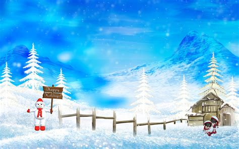 happy winter christmas holidays wallpapers hd