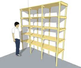 Simple Storage Garage Plans Ideas by Storage Shelf Plans