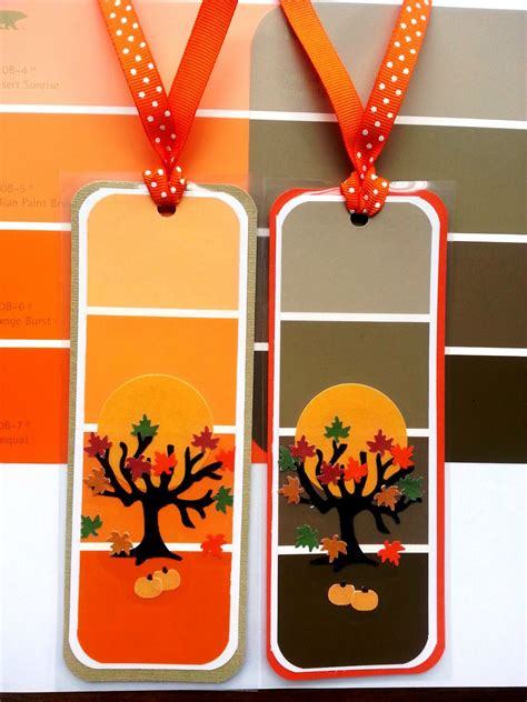 paint chip bookmarks fall paint chip bookmarks paint chip cards