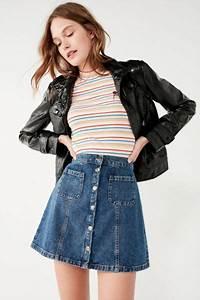 BDG Denim Button-Front Skirt | Urban Outfitters