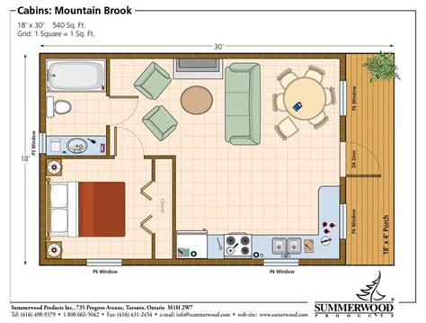 room cabin floor plans studio plan modern casita